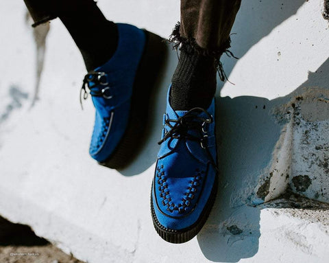 Blue Suede Viva Mondo Creeper