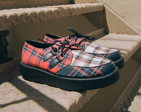 Mixed Plaid Viva Low Creeper