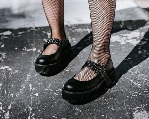 Black TUKskin™ Mary Jane Viva Mondo Creeper