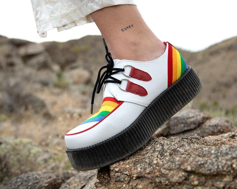 White & Rainbow Viva Mondo Creeper