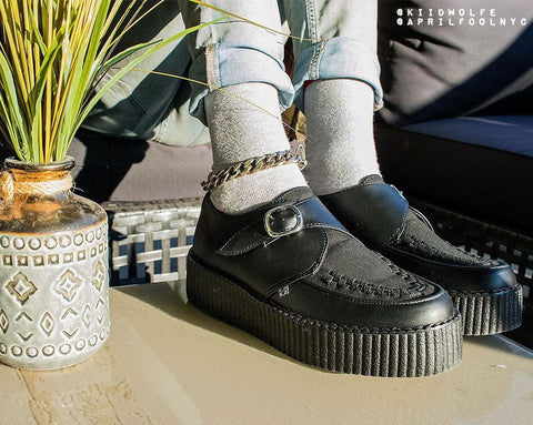 Black Monk Buckle Viva Mondo Creeper