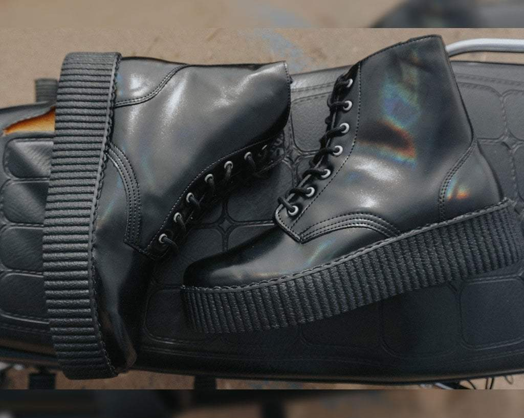 Black Oil Haze 7-Eye Viva High Boot