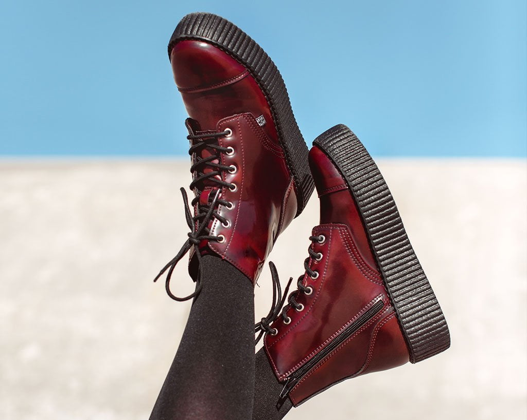 Burgundy Rub Off TUKskin™ 7-Eye Boot
