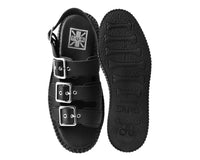 Black 3-Buckle Mondo Sandal