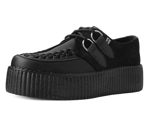 New Rare Retro Hand Made Uk Shoes White Leather Creepers Rock Punk Goth Fashions