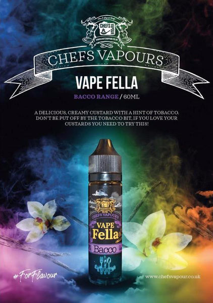 Chefs Vapour - 50ml Short Fill