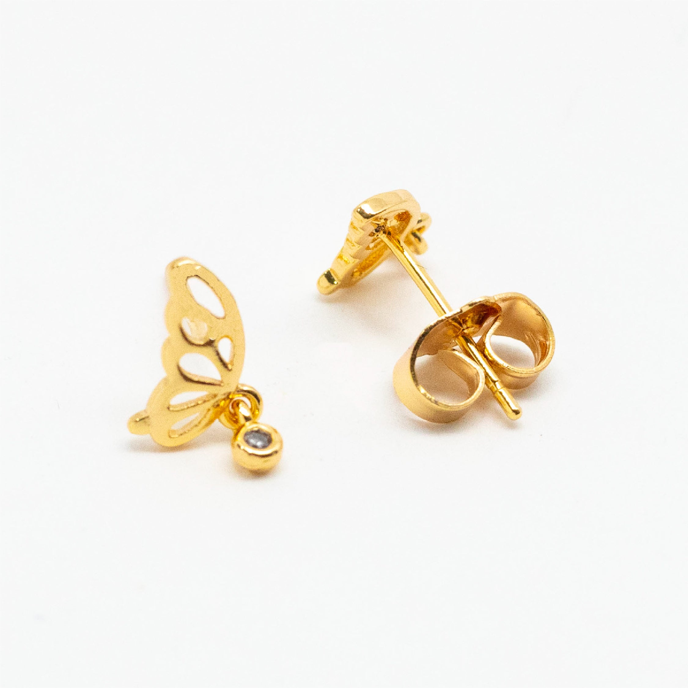 Hollow Butterfly Studs