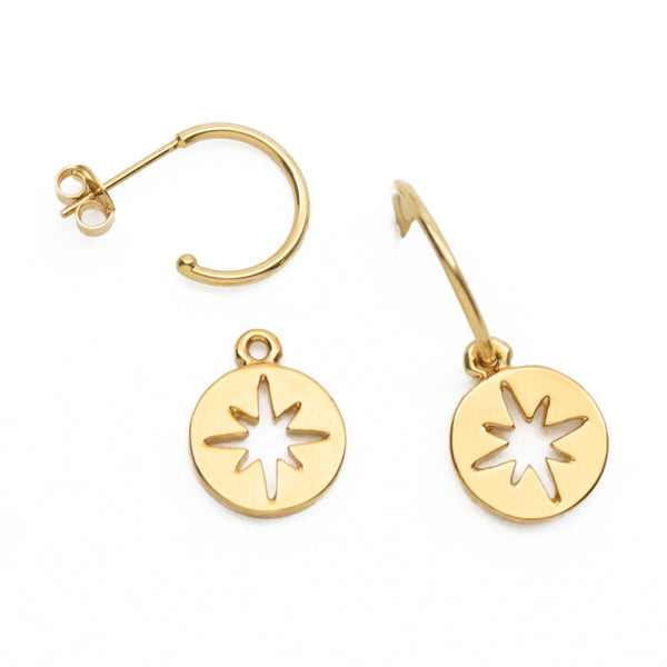 North Star Token Earrings