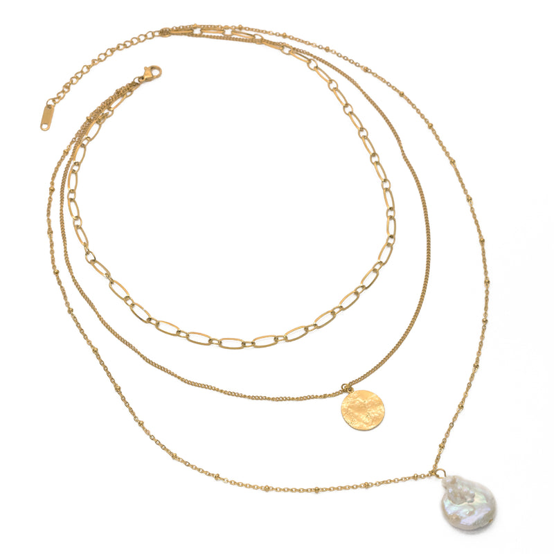 Cultured Pearl Layered Necklace