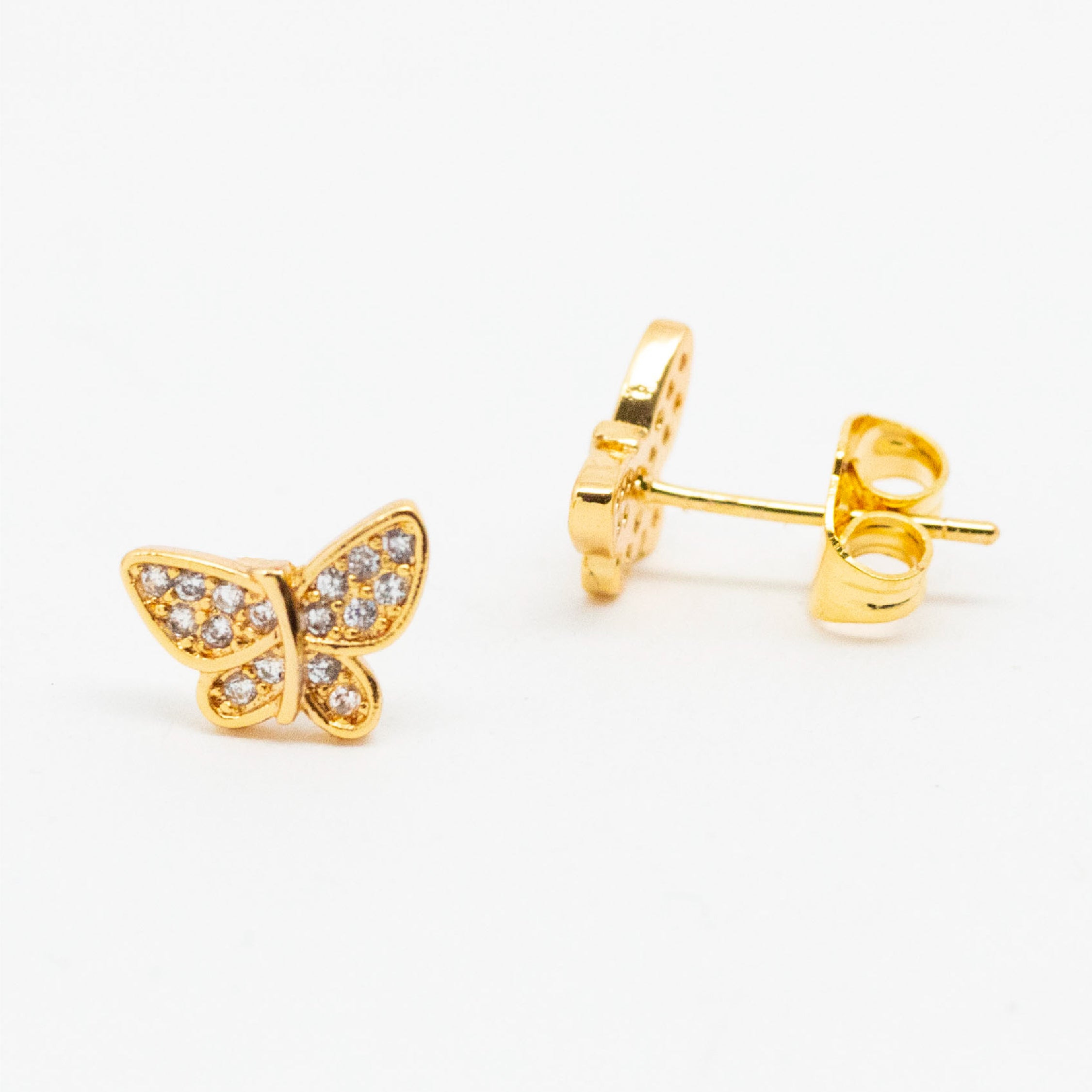 Shiny Butterfly Studs