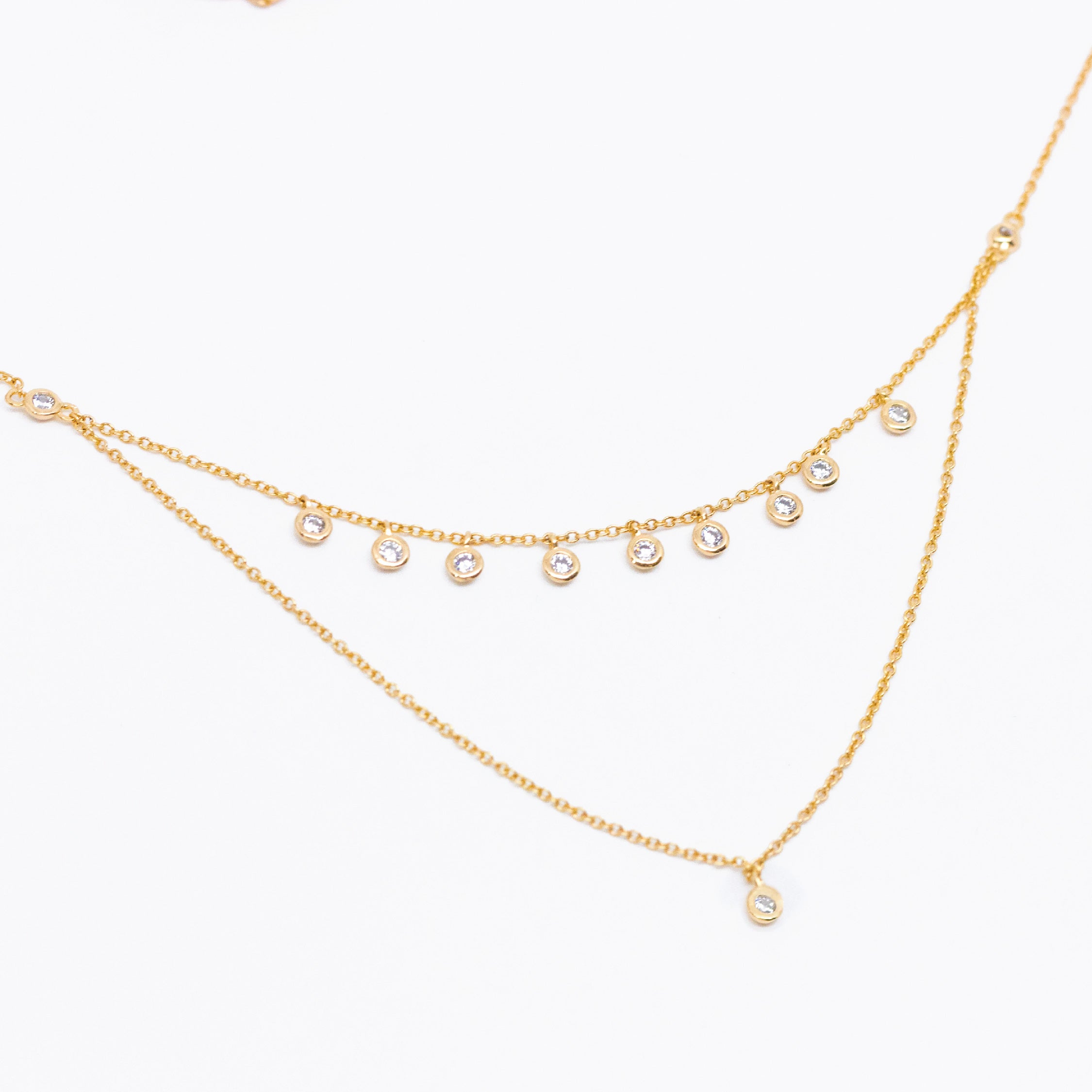 Layered Zirconia Necklace