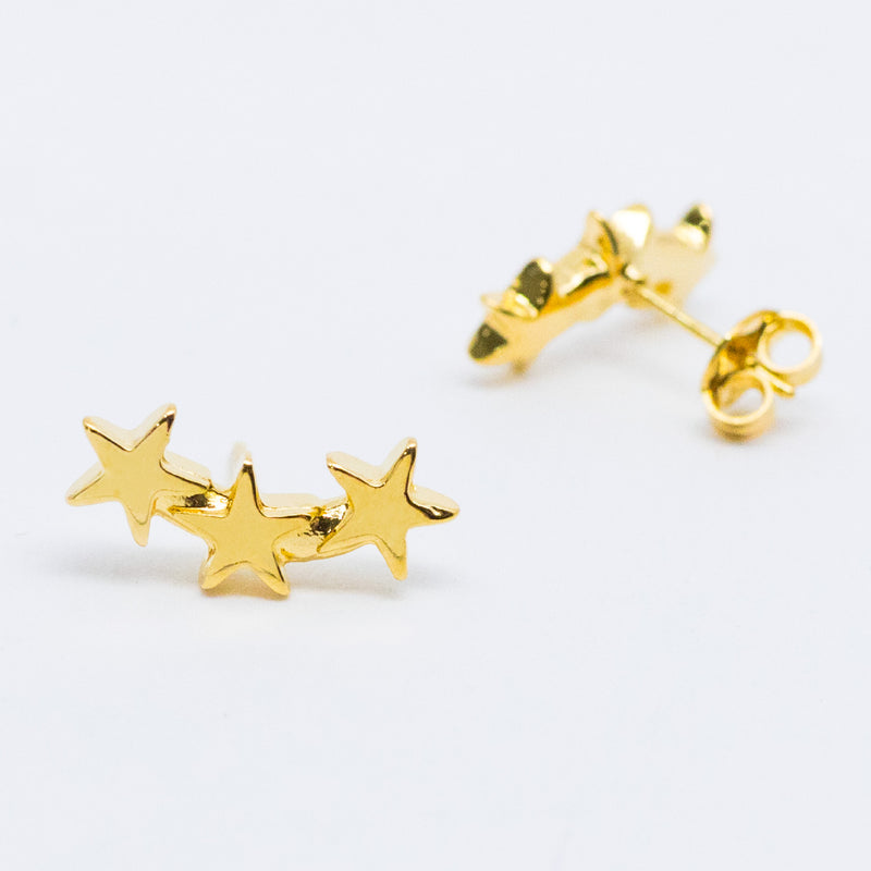 Curved Triple Star Studs