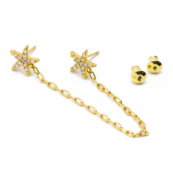 Double Star Chain Studs
