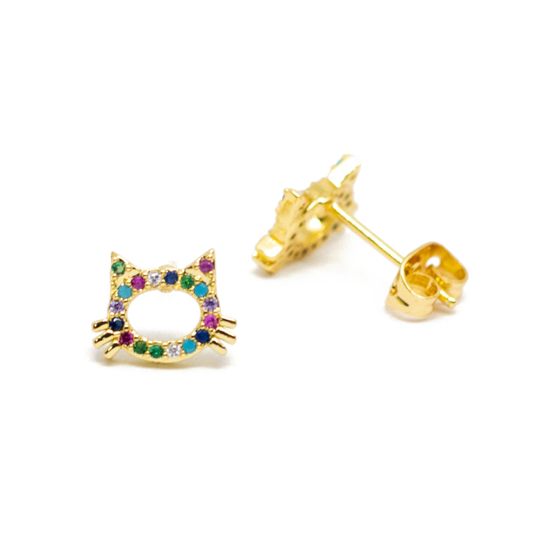 Multicolor Kitty Studs