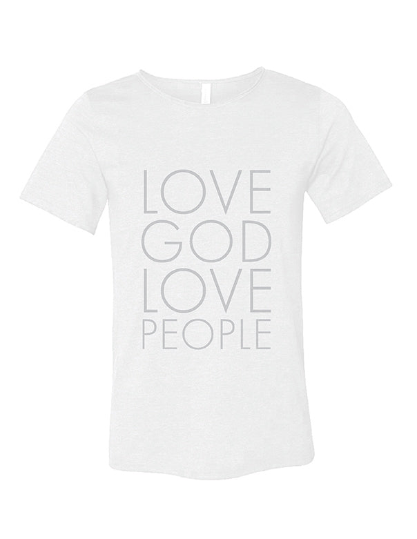 Love God Love People Modern tee | White