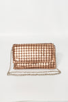 Brushed Squares Clutch