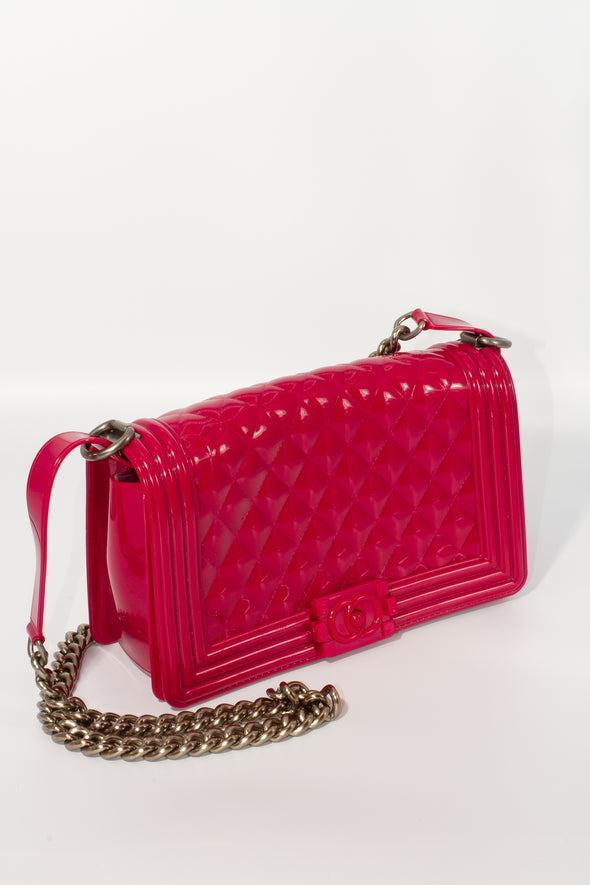 Pink Chanel Boy Inspired Bag