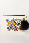 Patch It Pom Pom Clutch