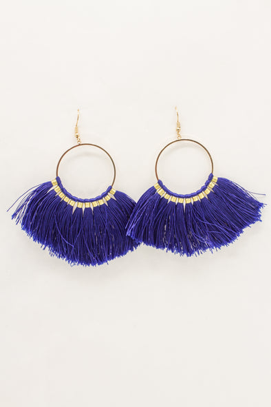 Gold Wrapped Tassel Earring