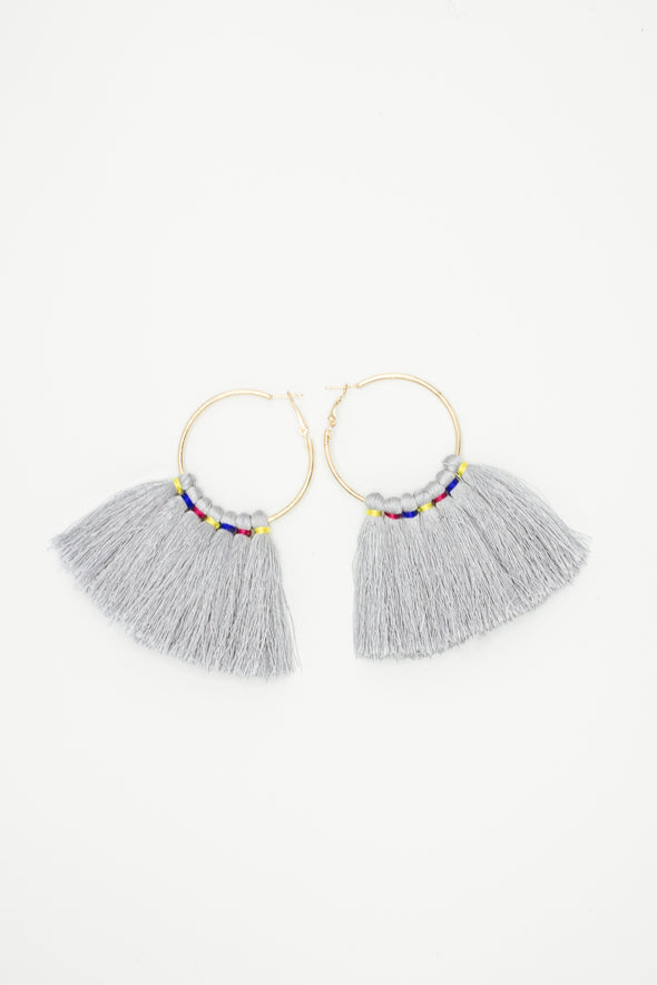Multi-color wrapped tassel Earrings