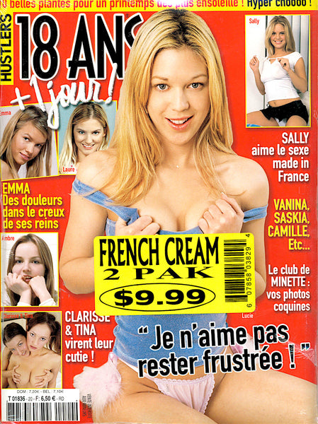 French Cream 2 Pack of French Hustler, Playboy, Swank, Cheri