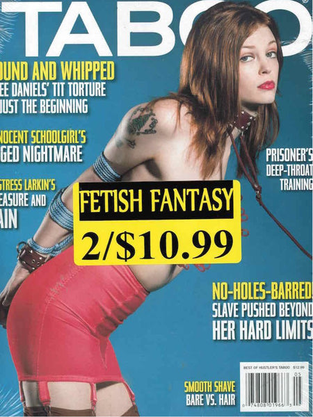 Hustler's Taboo magazine back issues  in our Fetish Fantasy 2 Pack