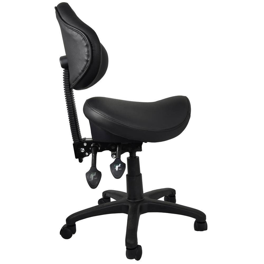 Ergonomic Saddle Stool With Adjustable Backrest