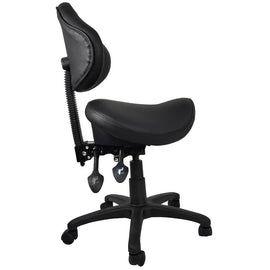 Ergonomic Saddle Stool with Adjustable Backrest | SitHealthier