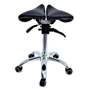 Saddle Style Split Seat Ergonomic Saddle Chair or Stool | Sit Healthier