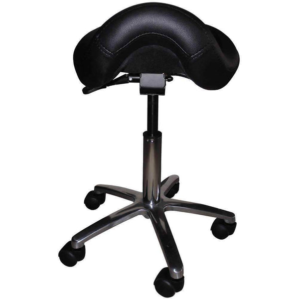 Adjustable Saddle Stool Chair with Forward Tilting Seat | SitHealthier