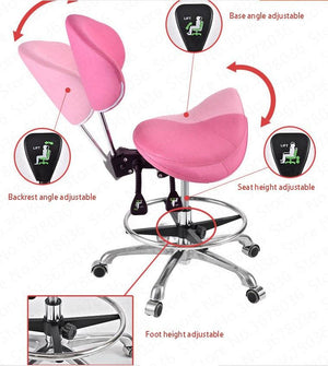 Swivel Saddle Seat Chair With Footrest & Backrest Chair | SitHealthier