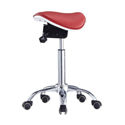 Two-Part or Split Style Seat Ergonomic Saddle Chair or Stool