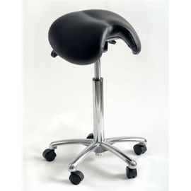 Bjorn Unisex Soft Saddle Seat, Front Cut-out, Grooved Center by Scandex | SitHealthier