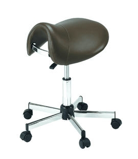 Pneumatic Vinyl-Upholstered Saddle Chair | SitHealthier.com