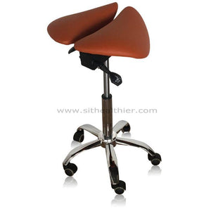 Saddle Style Split Seat Ergonomic Saddle Chair or Stool |Sit Healthier