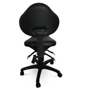 Saddle Shape Stool with Back Support and Tilt-able seat | Sit Healthier