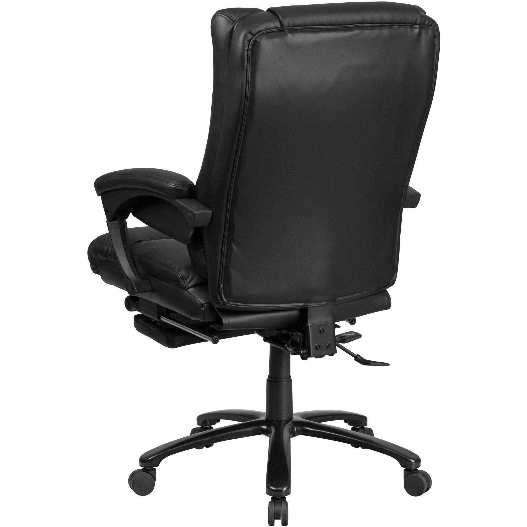 Reclining Leather Reclining Chair with Lumbar Support