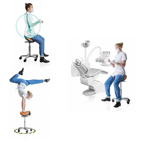 Narrower Seat 360° Dynamic Motion Ergonomic Saddle Stool Holland Made | SitHealthier