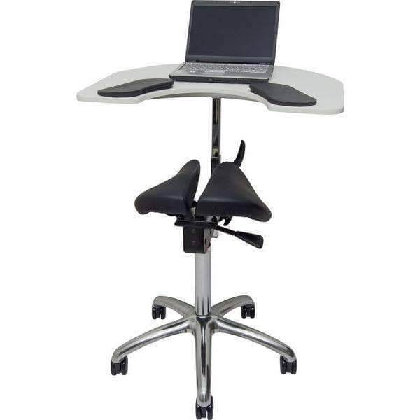 Salli Ergonomic Twin Saddle Chair with Elbow Table | SitHealthier.com