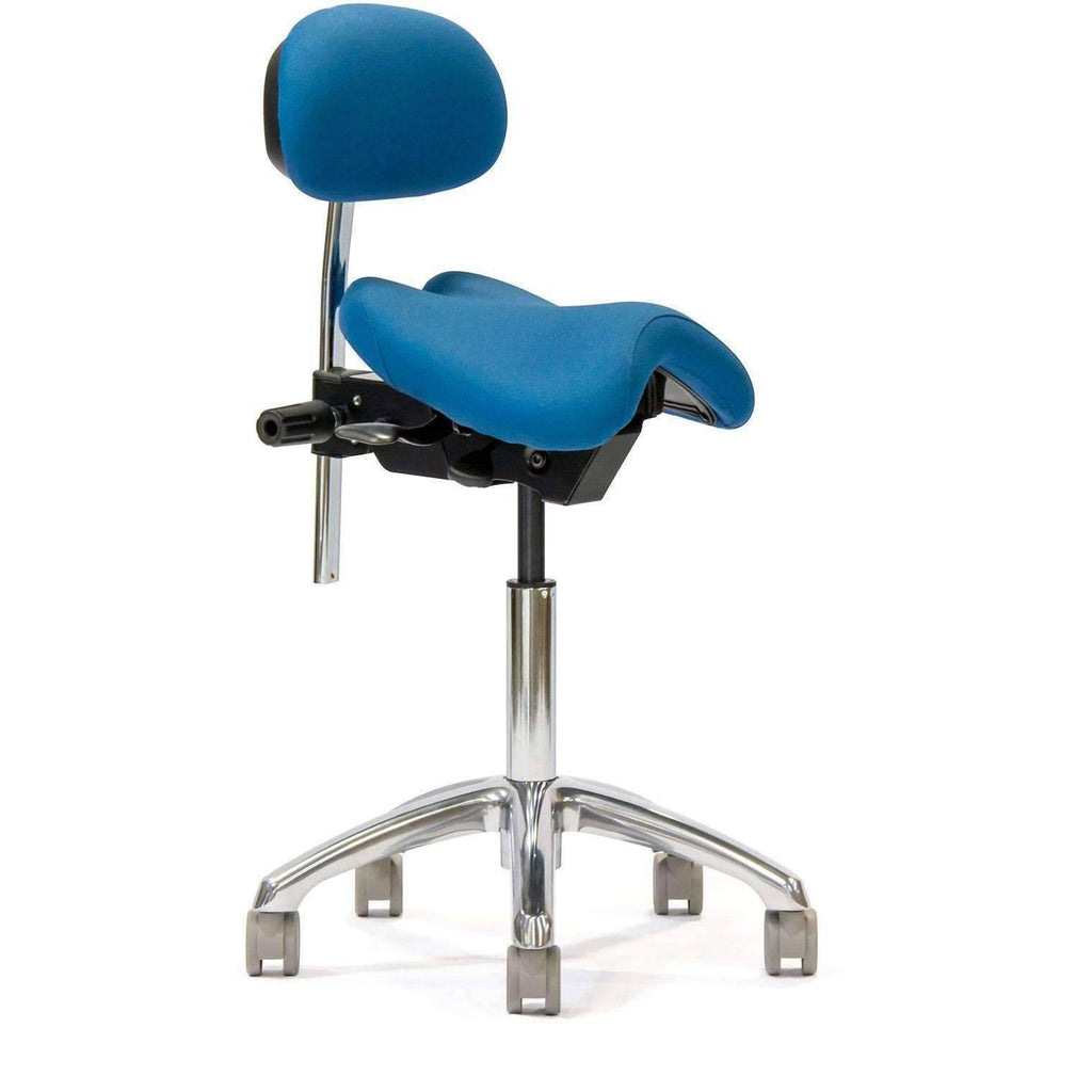 ErgoAngle Ergonomic Saddle Style Chair with Lumbar Back
