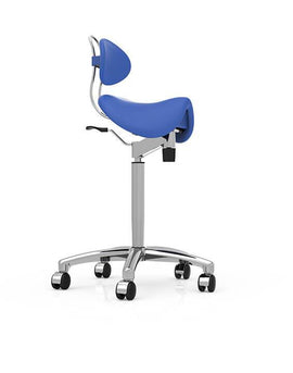 Finest Quality Sit-Stand Saddle Chair  with Back Rest for Better Posture