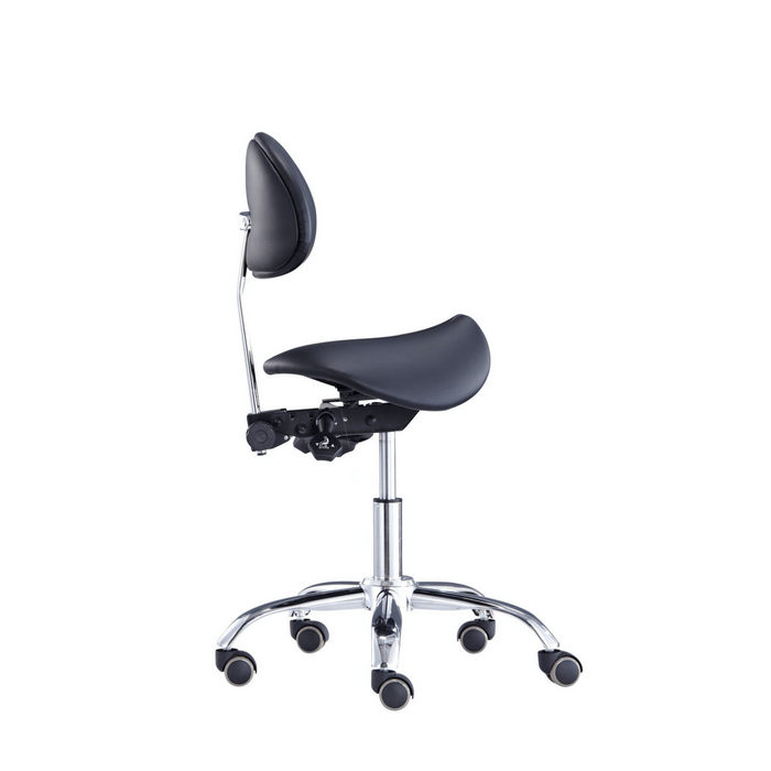 Saddle Style Split Seat Saddle Chair With Backrest