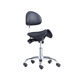 Saddle Style Split Seat Saddle Chair with Backrest | SitHealthier