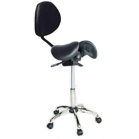 Kanewell Twin Adjustable Saddle Chair with Backrest | SitHealthier.com