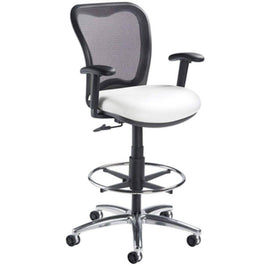 LXO Mid Back Ergonomic Stool, Black; 6000DS | Sithealthier.com