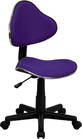 Ergonomic Pneumatic Seat Height Adjustment Swivel Task Chair - Purple | SitHealthier.com