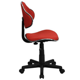 Ergonomic Pneumatic Seat Height Adjustment Swivel Task Chair - Red
