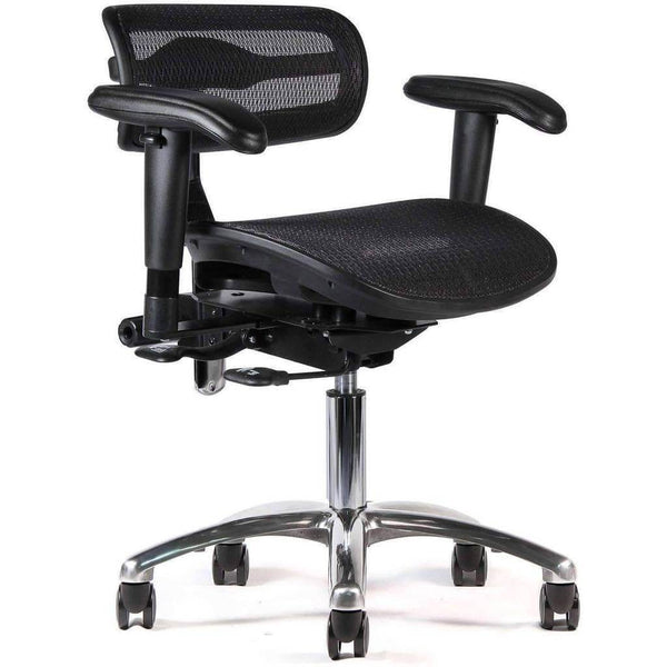 ErgoLab - Mesh Active Tilt Ergonomic Black Task Chair | SitHealthier