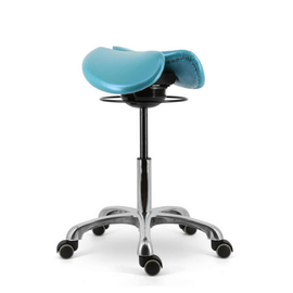 All Angles Tilt or Swing Mechanism Two Part Saddle Stool | SitHelathier