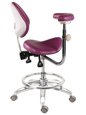 Saddle Style Dental Assistant Stool with Footrest | SitHealthier